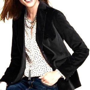 Ann Taylor LOFT Velvet Blazer Black Size 6